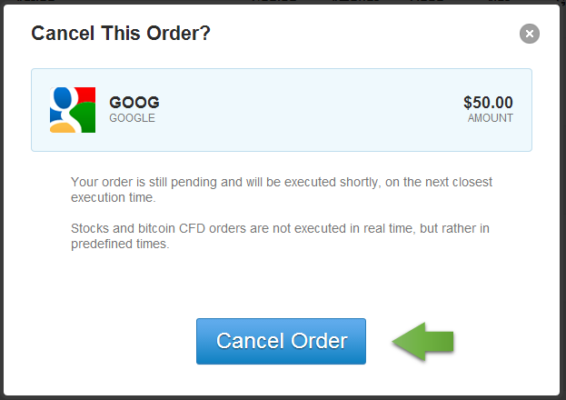 09 Cancel Order Pop-up